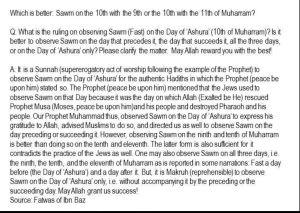 Fasting10thMuharram